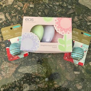 Sephora Makeup - NWT 5 eos goodies lip balm & hand lotion